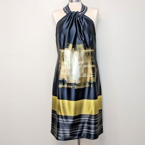 Nueva Satin Halter Dress